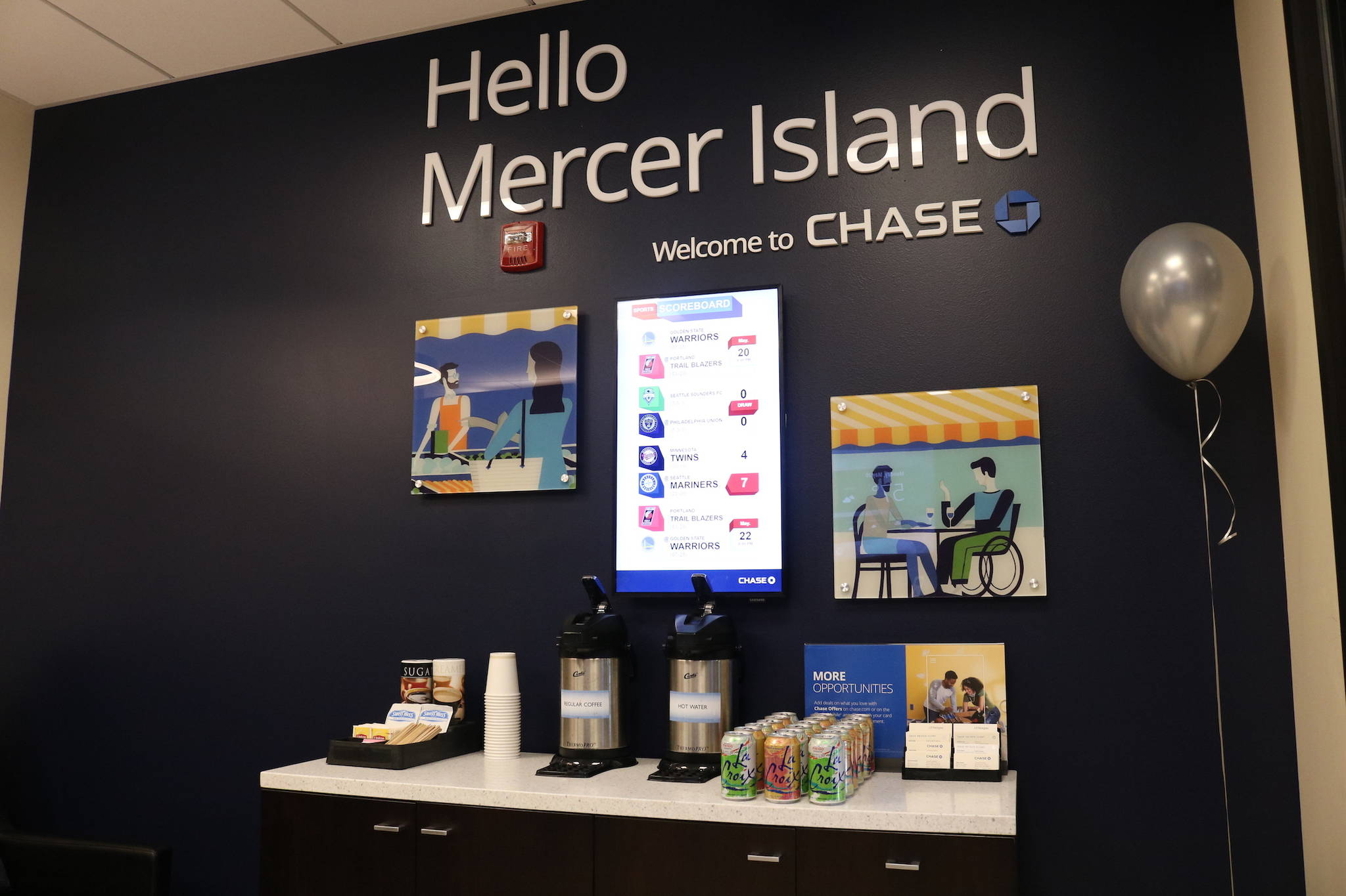 "The first Digital First Chase bank branch opens on Mercer Island with ""smart"" ATMs meant to fill the traditional role of a teller while the former tellers work as financial advisers for clients. Kailan Manandic / Staff Photo"